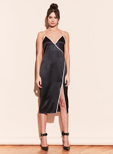Fleur du Mal Piped V Neck Dress