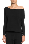 TATEJONES Bare Shoulder Sweatshirt