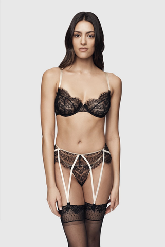 Kiki de Montparnasse All Over Lace Demi Bra