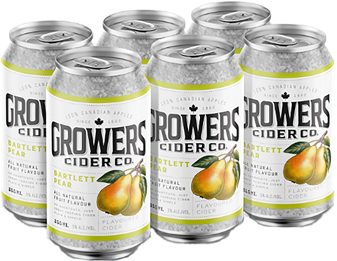 Growers Pear 6pk Can
