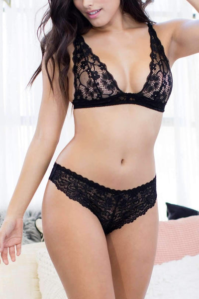Cat Thong-Honeydew Intimates-Black-Small-Honeydew Intimates