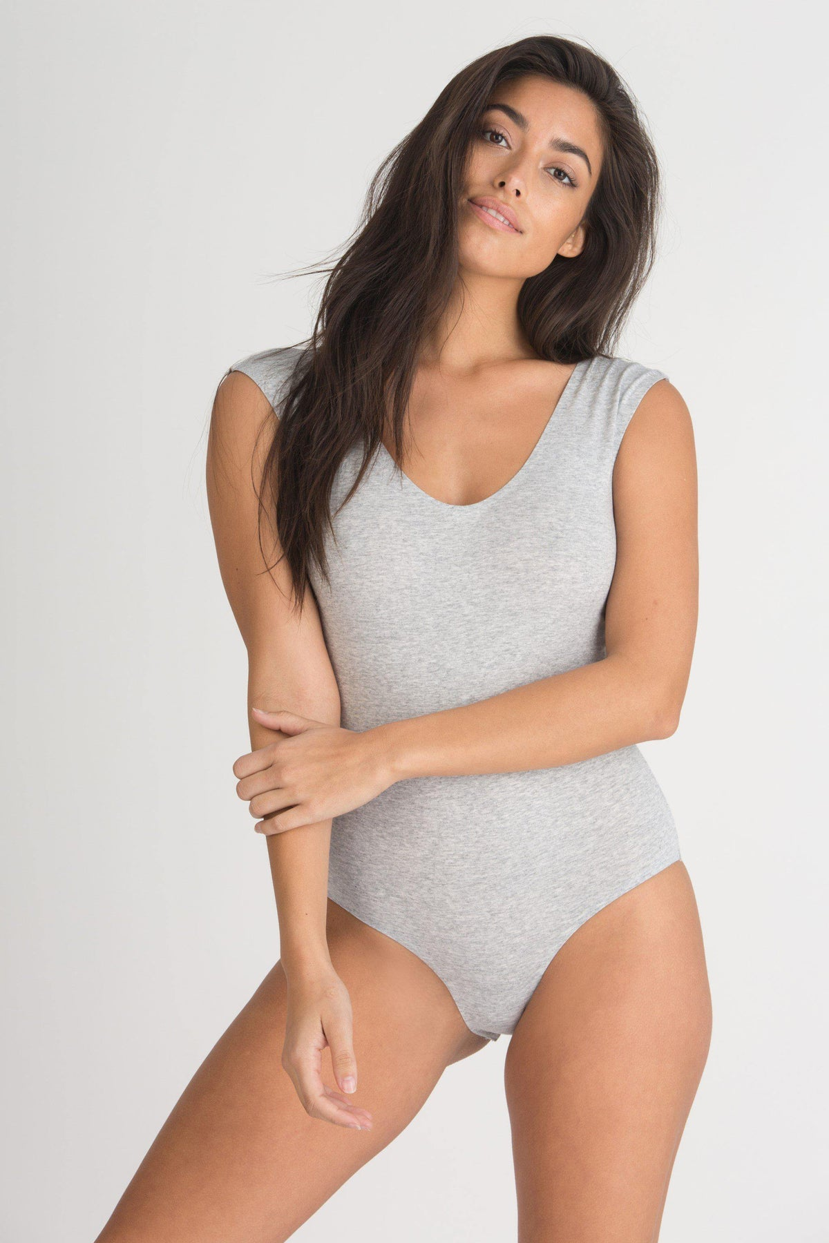 Shay Bodysuit-Honeydew Intimates-Heather Grey-Extra Large-Honeydew Intimates