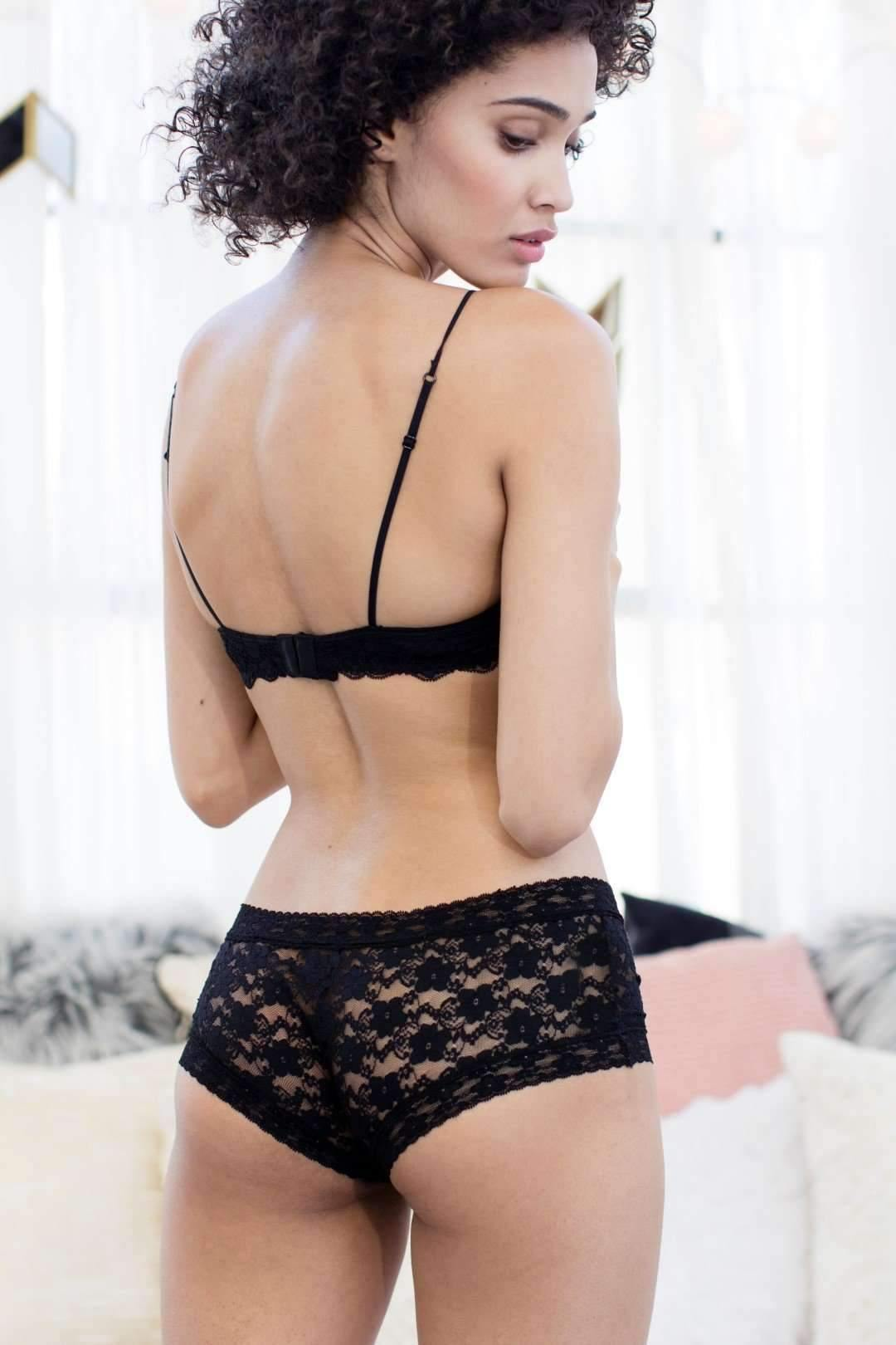 Lady In Lace Boyshort-Honeydew Intimates-Black-Small-Honeydew Intimates
