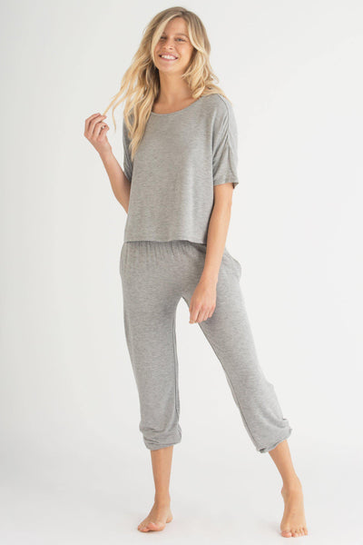 Sun Lover Lounge Set-Loungewear-Honeydew Intimates-Heather Grey-Small-Honeydew Intimates