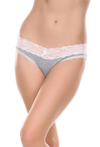 Ahna Thong-Panty-Honeydew Intimates-Heather Grey/Seashell-Small-Honeydew Intimates