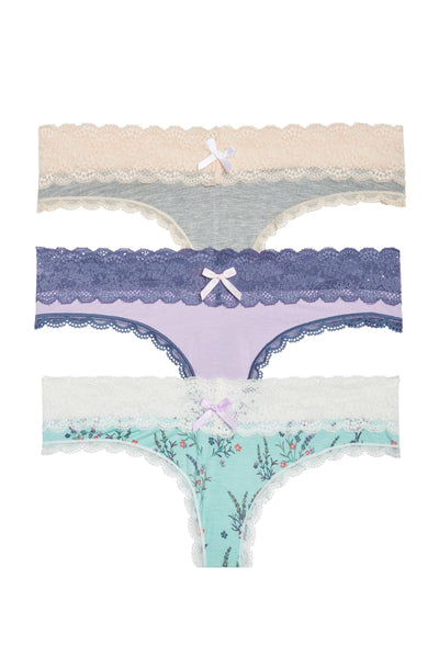 Ahna Thong 3 Pack - Honeydew Intimates
