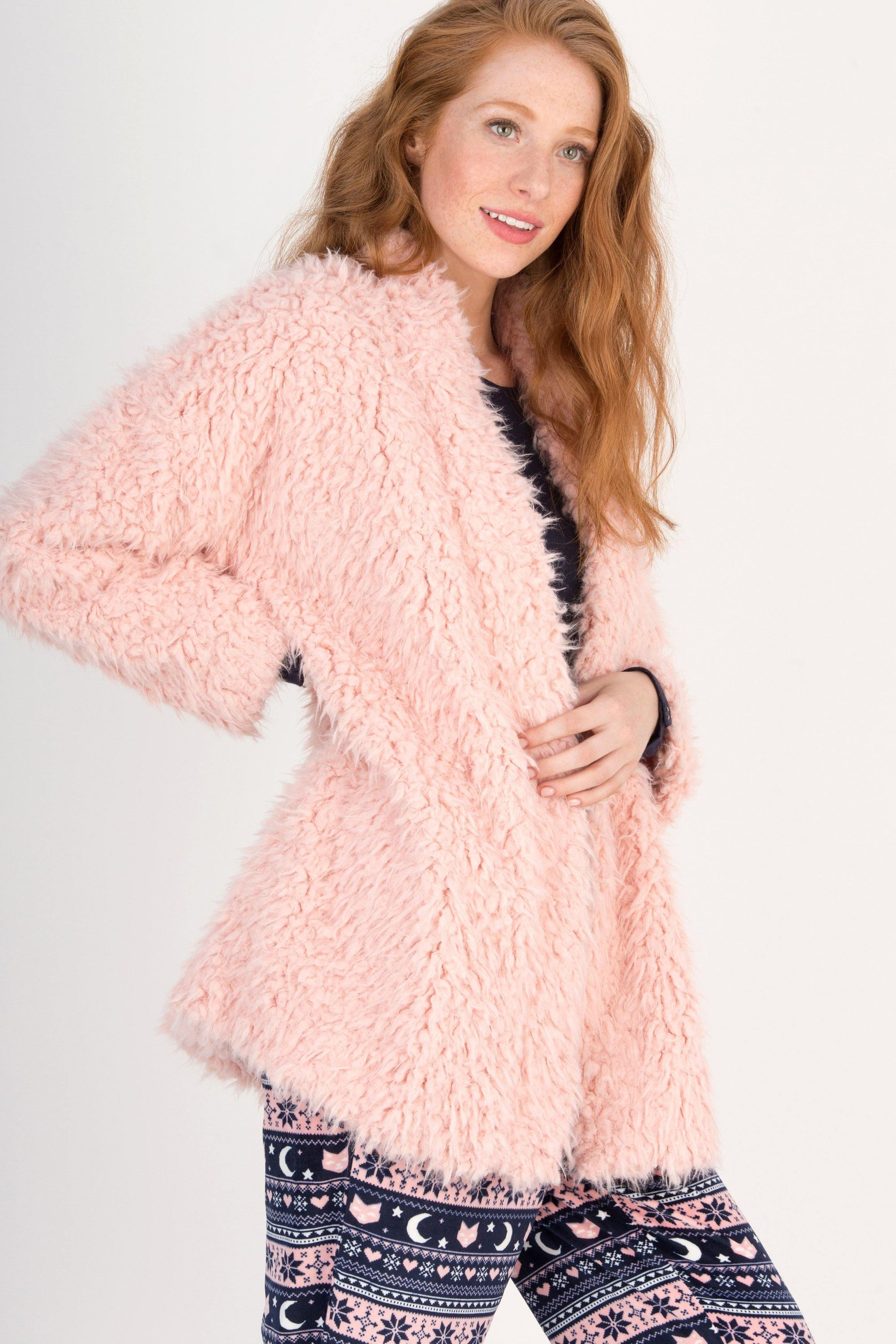 Snow Bunny Shaggy Fleece Cardi