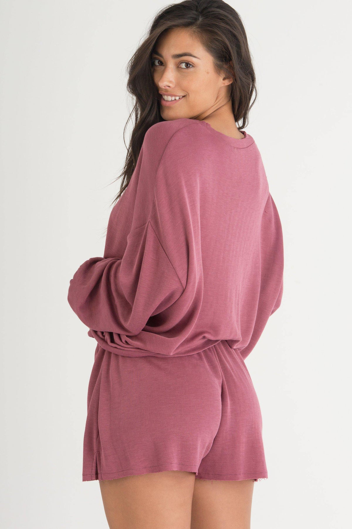 Fall Forever Lounge Sweater-Loungewear-Honeydew Intimates-Radiant-Small-Honeydew Intimates