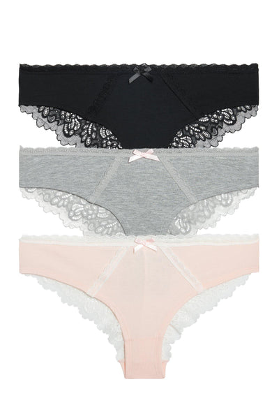 Bri Hipster 3 Pack - Honeydew Intimates