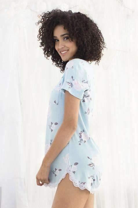 All American Sleepshirt-Sleepshirt-Honeydew Intimates-Blushing Floral-Small-Honeydew Intimates