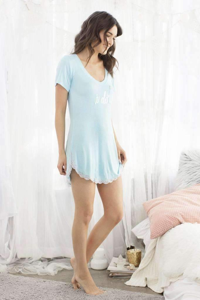 All American Sleepshirt-Sleepshirt-Honeydew Intimates-Kiss the Bride-Small-Honeydew Intimates
