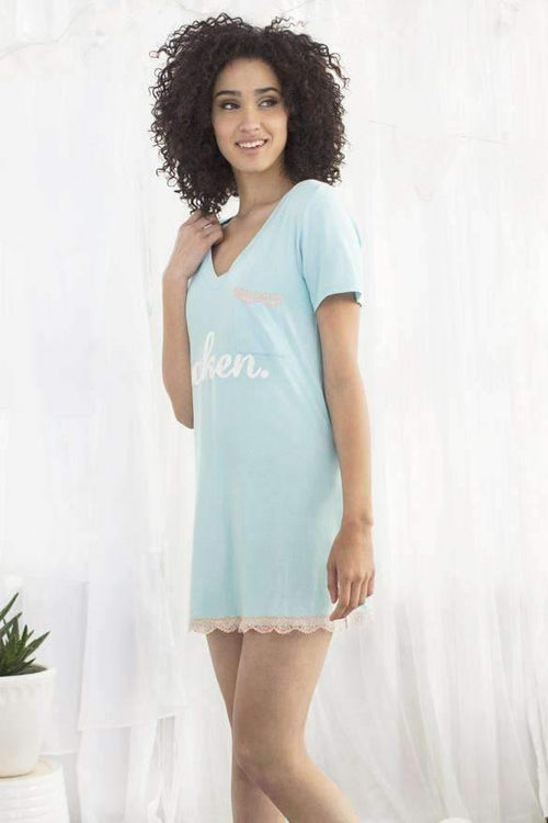 All American Sleepshirt-Sleepshirt-Honeydew Intimates-Heather Something Blue-Small-Honeydew Intimates