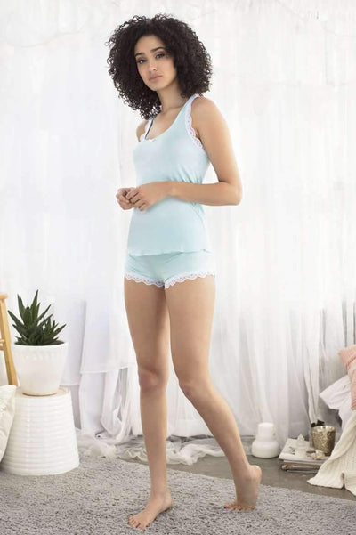 Honeydew Intimates:All American Shortie Set,Something Blue / Small