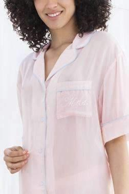 Sweetest Day PJ Set-Sleepshirt-Honeydew Intimates-Blush Stripe-Small-Honeydew Intimates