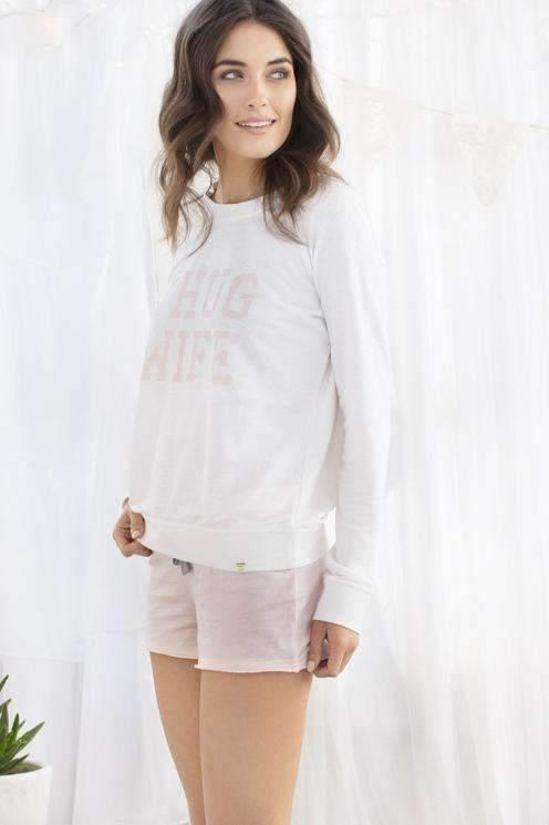 Undrest Terry Sweatshirt-Sleepshirt-Honeydew Intimates-Veil Lace Print-1X-Large-Honeydew Intimates