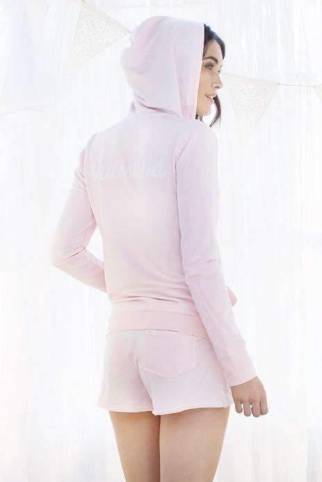 Honeydew Intimates:Undrest Burn-Out Terry Hoodie,Blush / Extra Small