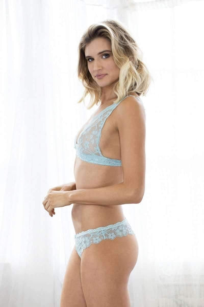 Camellia Lace Thong-Panty-Honeydew Intimates-Honeydew Intimates