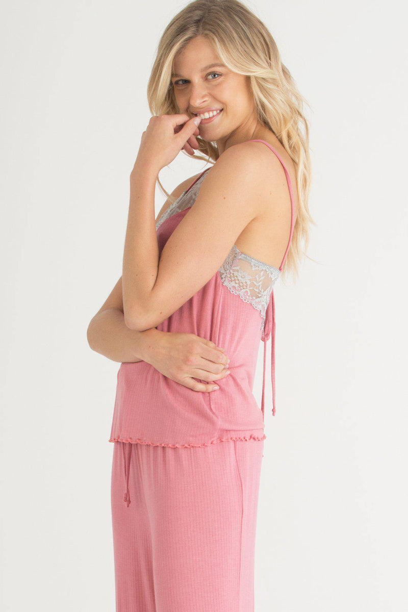 Back to Bed Lace PJ Set-Sleepwear-Honeydew Intimates-Summit Ditsy-Small-Honeydew Intimates