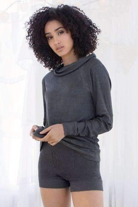 Cozy Cruiser Sweatshirt-Heather Charcoal-Small-Honeydew Intimates