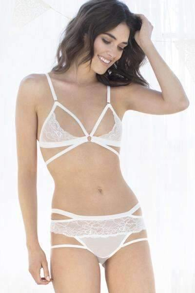 Lucy Lacy Bralette-Bras-Honeydew Intimates-White-Small-Honeydew Intimates