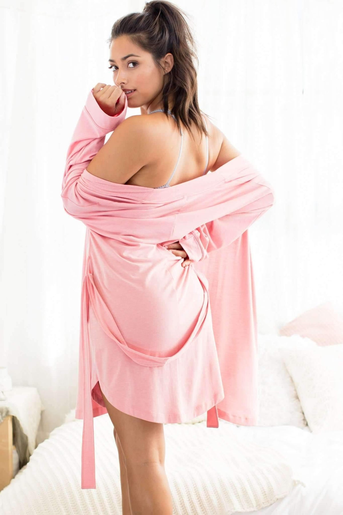 Honeydew Intimates:All American Rayon Robe,Cameo / Small