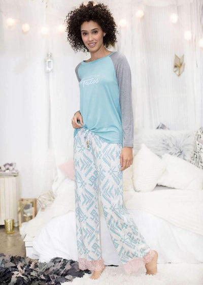 Dream Keeper Pant-Sleepshirt-Honeydew Intimates-Holly Geo-Small-Honeydew Intimates