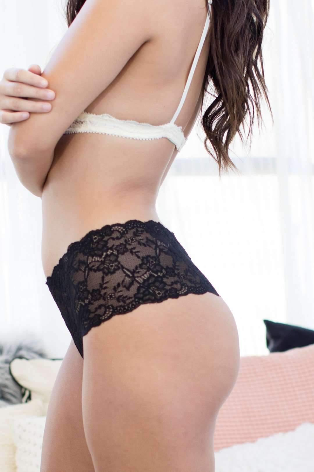Lady In Lace Thong-Honeydew Intimates-Black-Small-Honeydew Intimates
