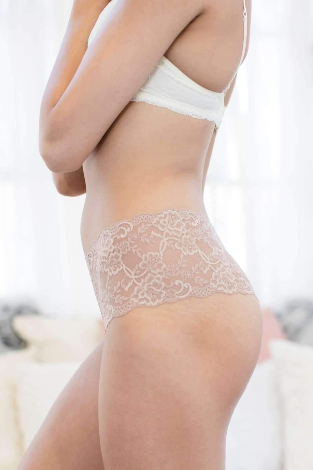 Lady In Lace Thong-Honeydew Intimates-Suntan-Small-Honeydew Intimates