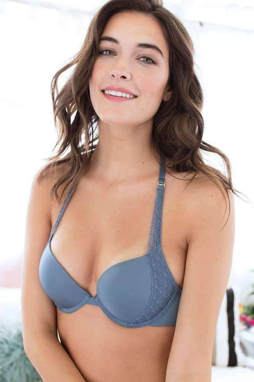 Honeydew Intimates:Lily Halter Push Up Bra,32A / Tarot