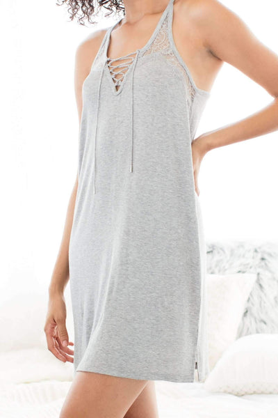 Breakaway Lounge Dress-Sleepshirt-Honeydew Intimates-Heather Grey-Small-Honeydew Intimates