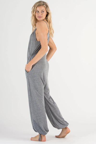 Casual Cutie Jumpsuit-Sleepwear-Honeydew Intimates-Heather Grey-Small-Honeydew Intimates
