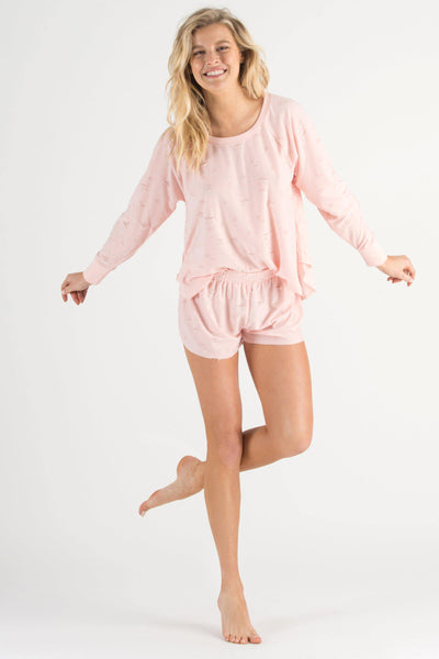 Starry Eyed Lounge Short-Loungewear-Honeydew Intimates-Prism-Small-Honeydew Intimates