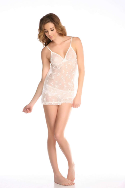 Queen Of Hearts Babydoll Set-Loungewear-Honeydew Intimates-Creme Fraiche-Small-Honeydew Intimates