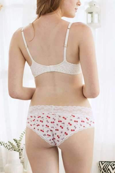 Ahna Hipster-Panty-Honeydew Intimates-White Cherry Blossom-Small-Honeydew Intimates