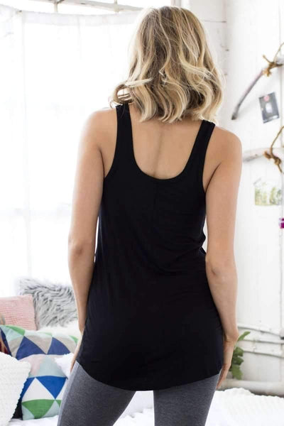 All American Lounge Tank-Sleepshirt-Honeydew Intimates-Black-Small-Honeydew Intimates