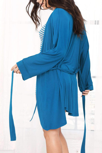 All American Rayon Robe-Sleepwear-Honeydew Intimates-Honeydew Intimates