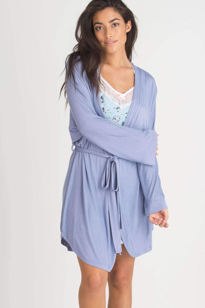 All American Rayon Robe-Sleepwear-Honeydew Intimates-Love Letter Stripe-Small-Honeydew Intimates