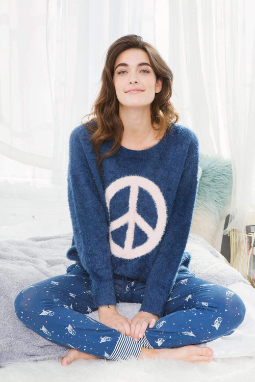 Bae N' Breakfast Chenille Sweater-Sleepshirt-Honeydew Intimates-Honeydew Intimates