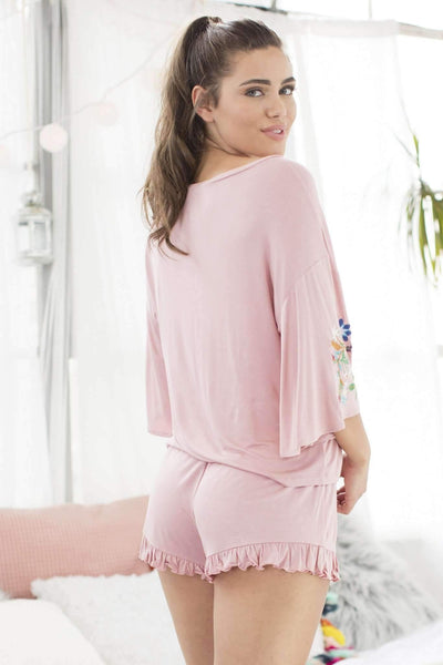 Cabana Cutie Shortie Set-Sleepshirt-Honeydew Intimates-Dazzle-Small-Honeydew Intimates