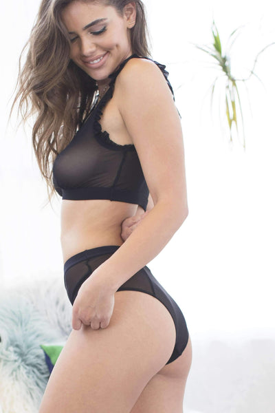 Everly Hi-Waist Hipster-Panty-Honeydew Intimates-Black-Small-Honeydew Intimates
