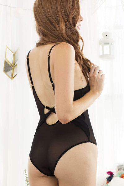 Everly Mesh Bodysuit-Honeydew Intimates-Honeydew Intimates