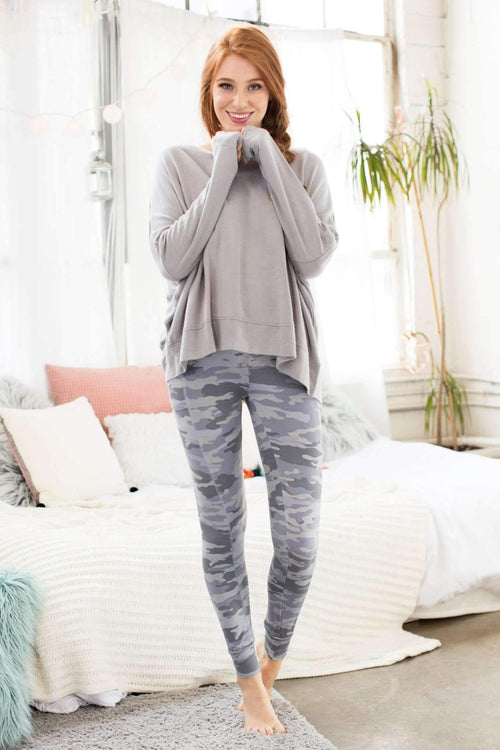 Kickin' It Hi-Waist Jogger-Honeydew Intimates-Grey Camo-Small-Honeydew Intimates