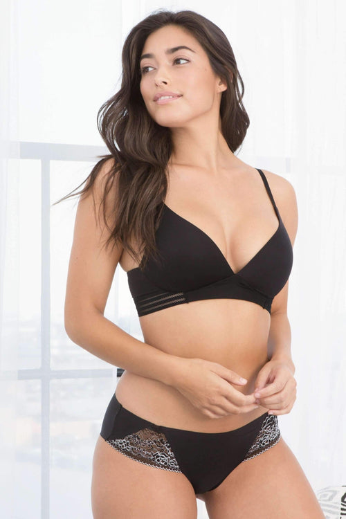 Micki Lounge Bra-Bras-Honeydew Intimates-Black-32A-Honeydew Intimates
