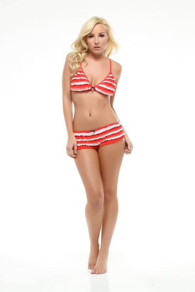 Nautical Mesh Rumba-Panty-Honeydew Intimates-Red-Small-Honeydew Intimates