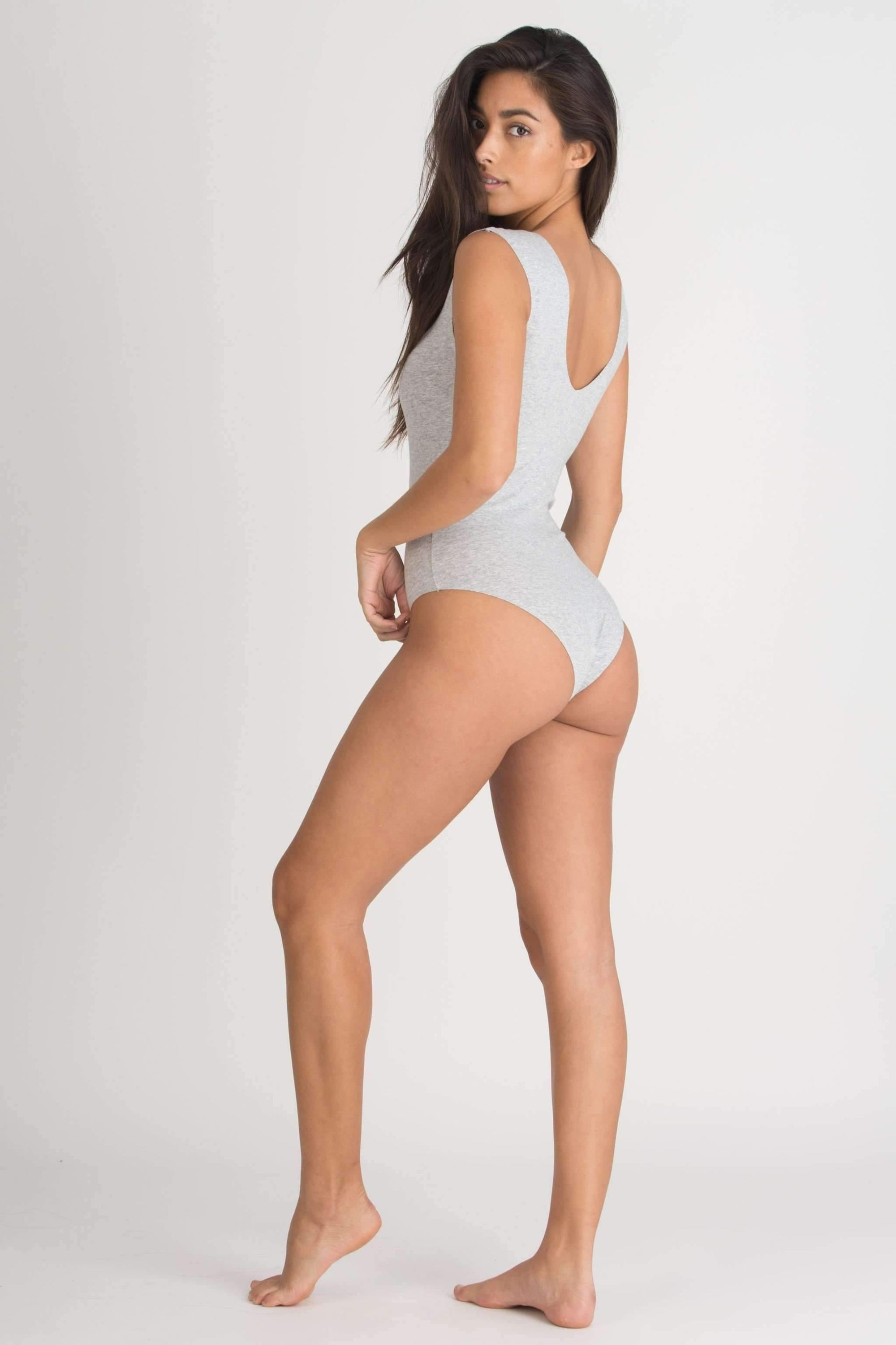 Shay Bodysuit-Honeydew Intimates-Heather Grey-Small-Honeydew Intimates