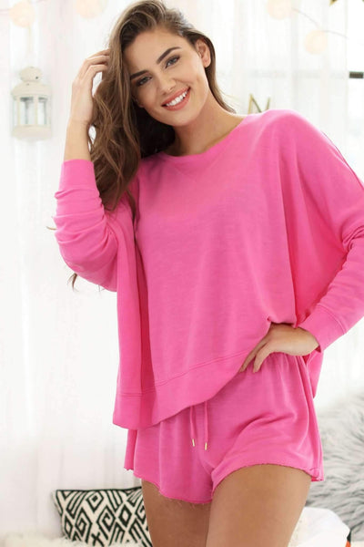 Starlight Lounge Sweatshirt-Sleepshirt-Honeydew Intimates-Pink Watermelon-Extra Large-Honeydew Intimates