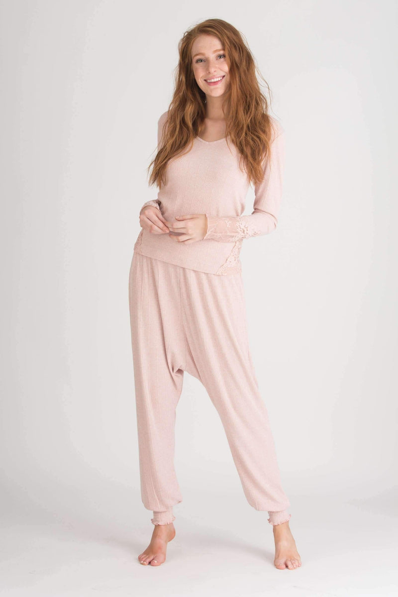 Wanderlust Harem Pant-Sleepwear-Honeydew Intimates-Navy Night-Small-Honeydew Intimates