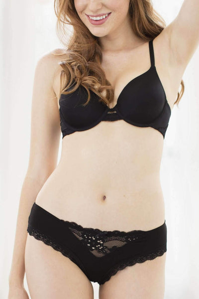 Honeydew Intimates:Willow Hipster,Black / Small