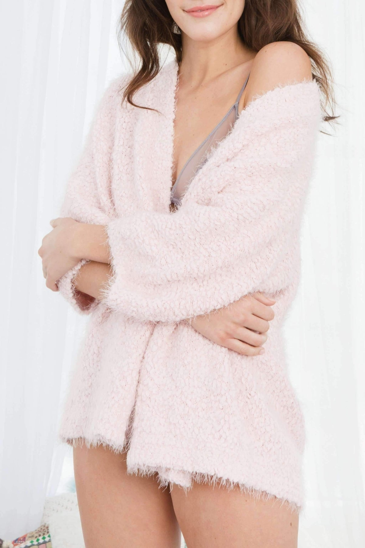 Winter Breaker Popcorn Wrap-Sleepshirt-Honeydew Intimates-Honeydew Intimates