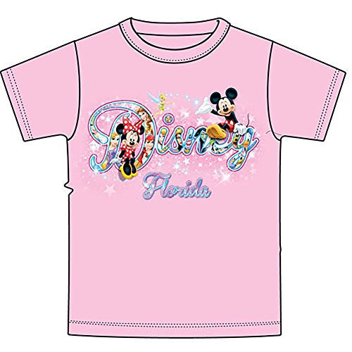 Disney Minnie Mouse & Mickey Mouse Sparkle Florida Women Tee T Shirt Fashion Top - SHOPME.COM